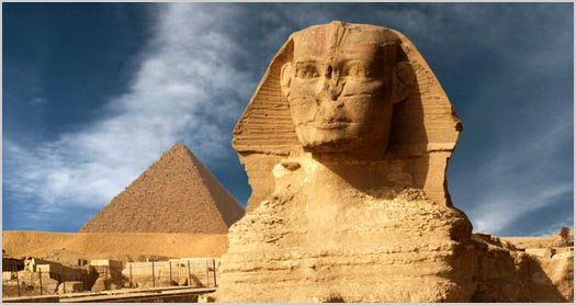 Where Do You Want to Go Today? Egyptian Pyramids and Sphinx