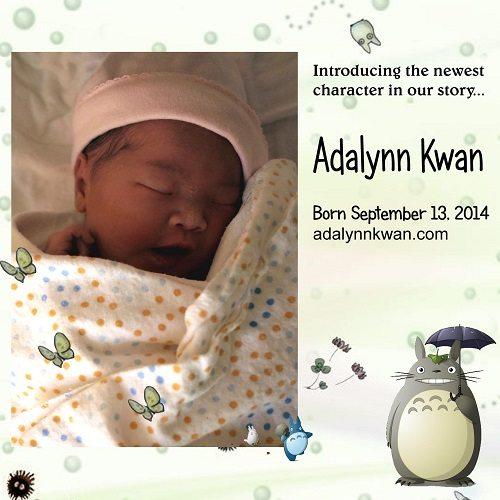 Say Hello to Baby Adalynn Kwan