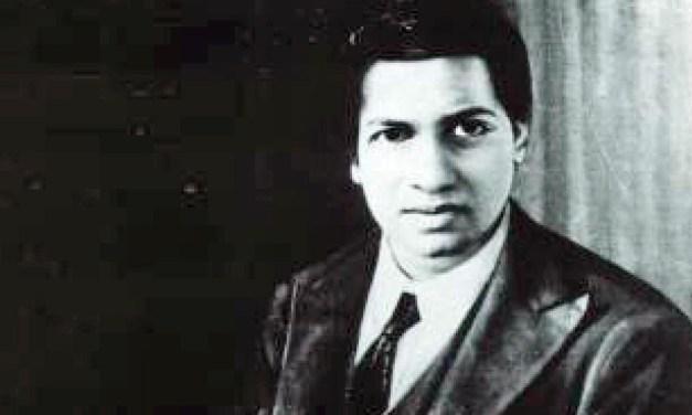 Sunday Snippet: Srinivasa Ramanujan (1887-1920)