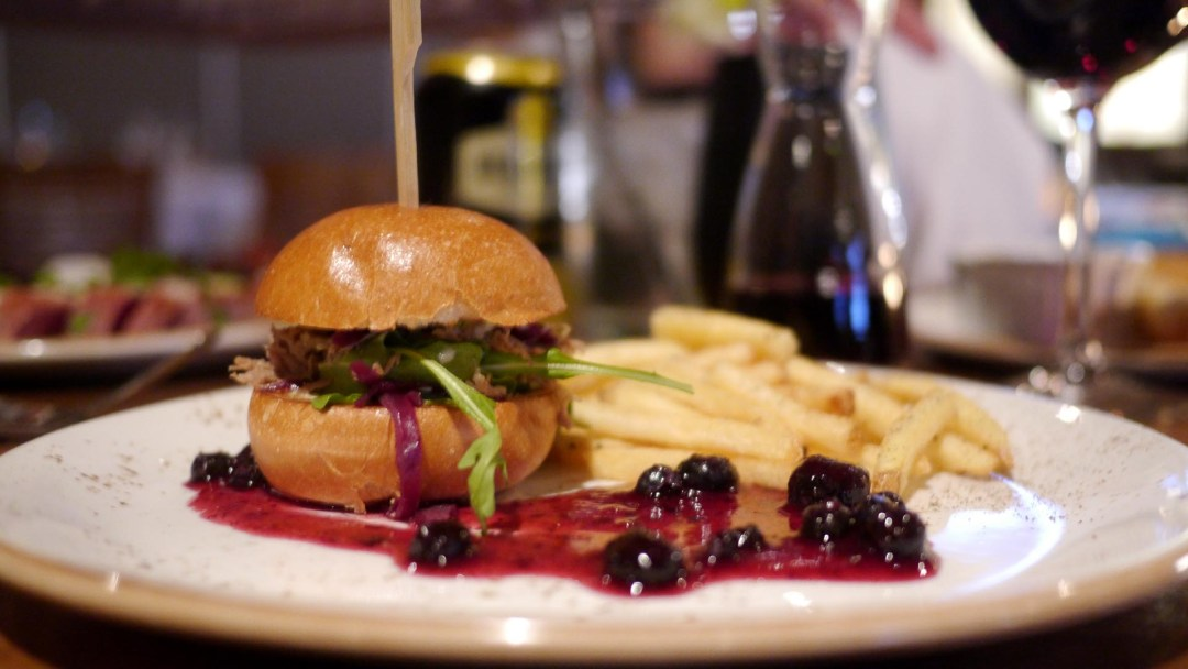 Duck confit slider - Riverway Clubhouse