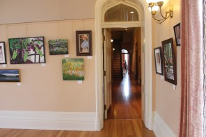 Associated Women in The Arts Display Paintings