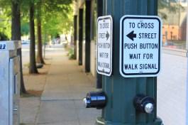 Press Button to Cross Street