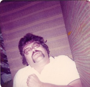 1972, methinks; a chalet in Horseshoe Valley; practicing for my own funeral