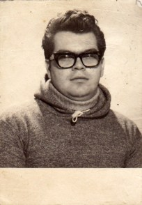 My 1965 passport photo, I believe, although I thought they made you take off your glasses...