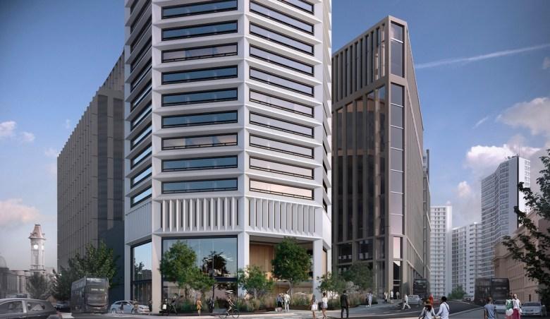 Octagon Build to Rent building ground view - Paradise Birmingham