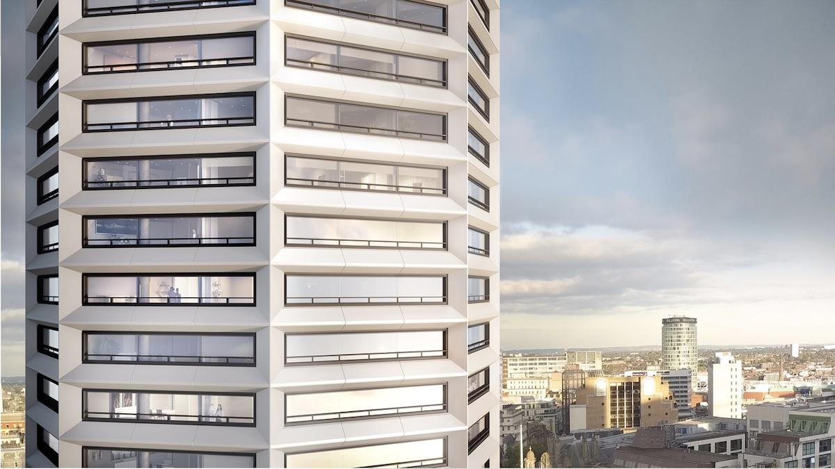 Octagon Build to Rent building - Paradise Birmingham