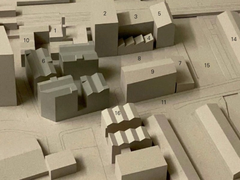 Build to Rent scheme, Hackney - mock up of development