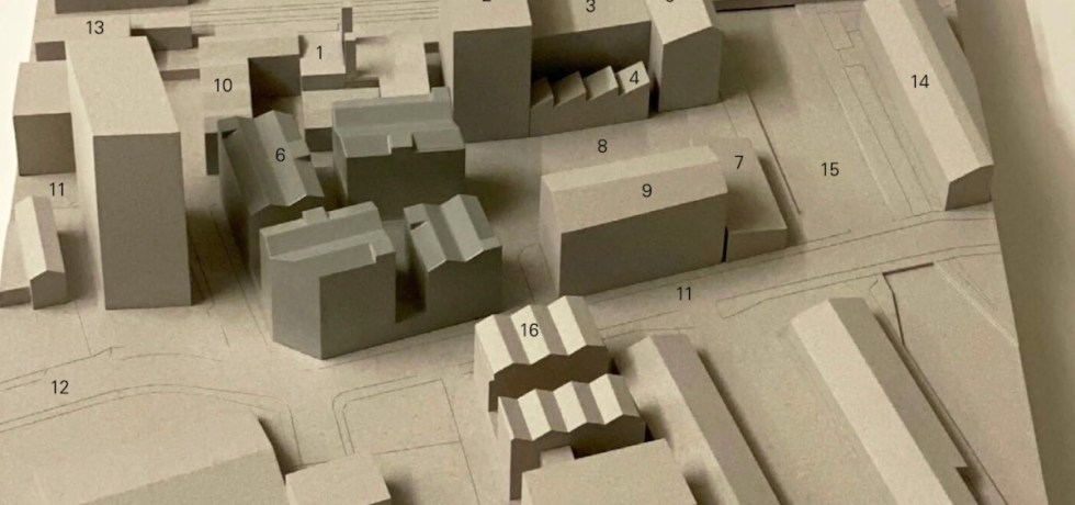 Build to Rent scheme, Hackney - mock up of development