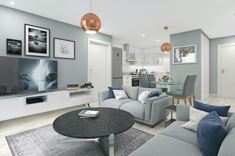 The Landmark, Phoenix street Living/kitchen area