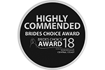 Brides Choice Awards - Highly Commended 2018