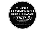 Brides Choice Awards - Highly Commended 2020