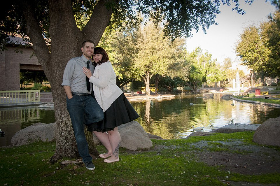 Engagement Portrait at a Hidden Park in Tempe