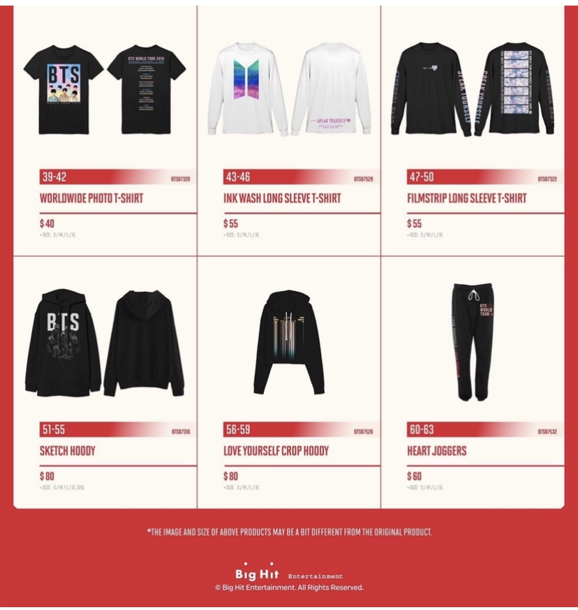BTS SYSツアーグッズ