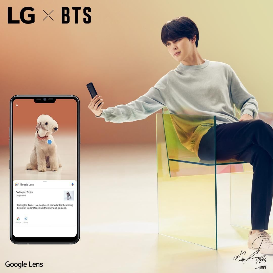 Picture LG X BTS  LG G7 ThinQ 180510
