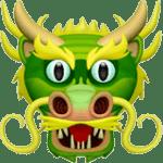【絵文字】龍 ドラゴン Dragon Face