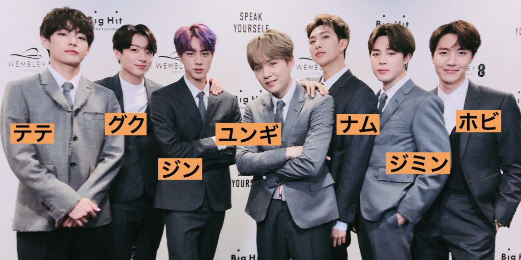 防弾少年団(BTS)メンバー名前入り画像