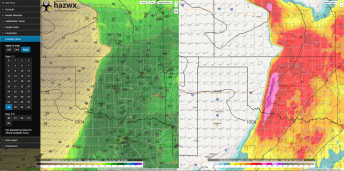 7pm Monday - Dewpoints/Supercell Composite - NAM4