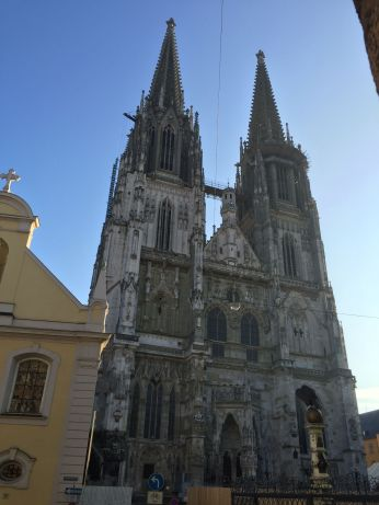The front of the Regensburg Cathedral