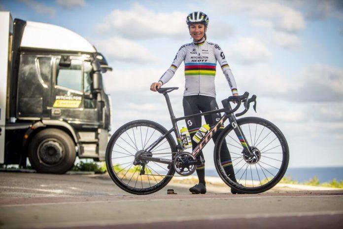 Scott Addict RC World Championship personalizada para Annemiek van Vleuten