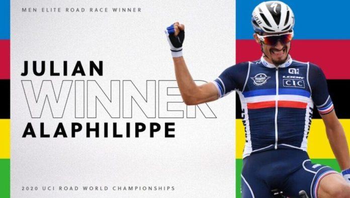 Campeonato do Mundio de Estrada Rui Costa 26.º, Julian Alaphilippe Campeão do Mundo