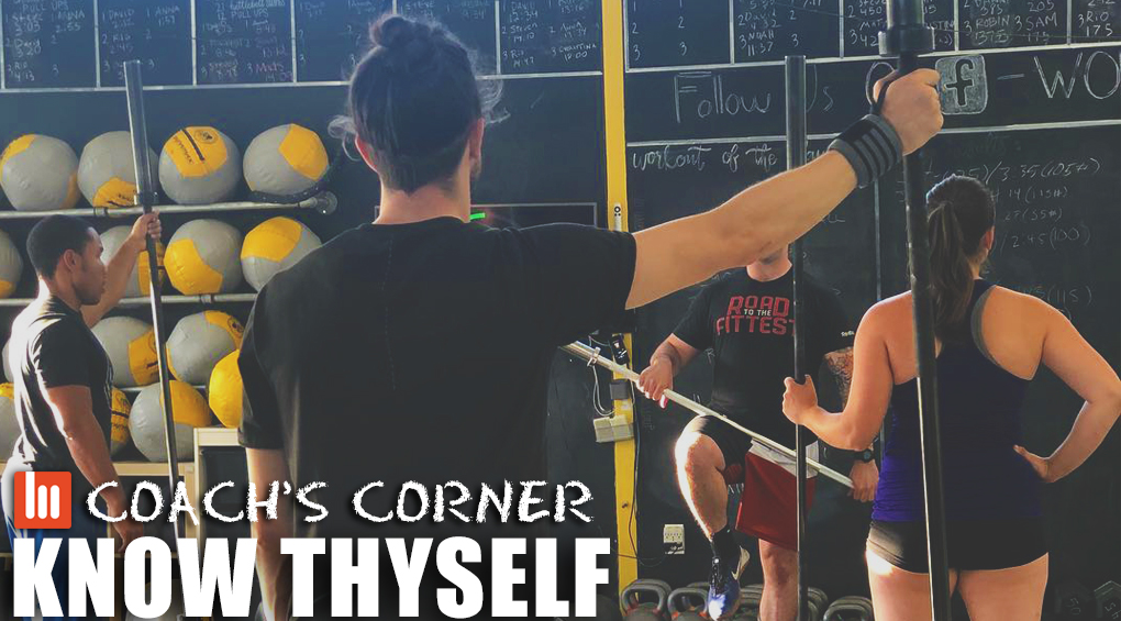 Coach's Corner: Know Thyself