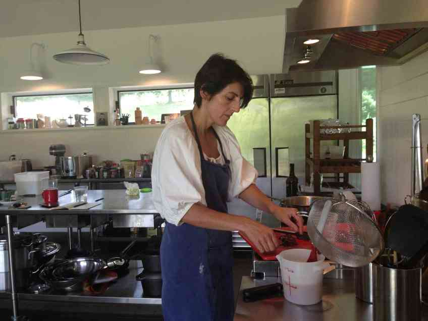 Mimi Beaven prepares to make paté at Little Ghet Farm. By Kate Abbott