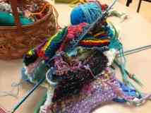A knitting group has started up at the Makers Mill. Photo by Kate Abbott