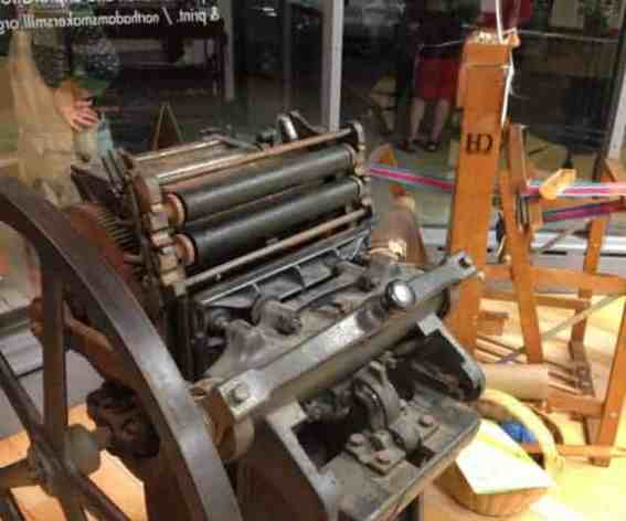 Printing presses and looms have come to the Makers Mill. Photo by Kate Abbott