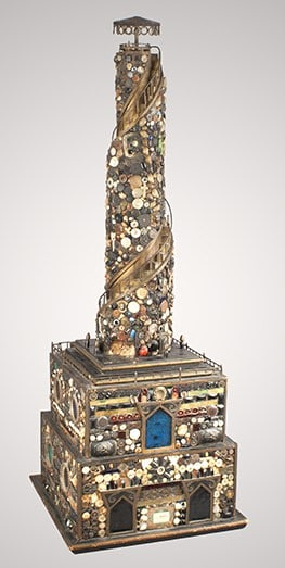 "Stephen Warren's ""Memory Ware Tower"" has inspired this year's ""Festival Re-imagined"" at the Bennington Museum. Image courtesy of the Bennington Museum."