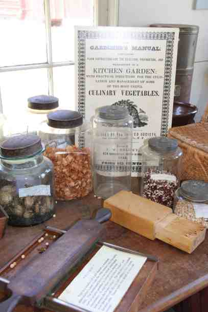 The Shakers gathered and sold seeds at Hancock Shaker Village. Photo by Susan Geller