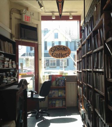 The Shade Gallery has hosted shows at The Bookstore in Lenox since the 1970s. Photo by Kate Abbott