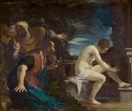 Guercino's 'Susannah and the Elders' appears in the Clark Art Institute's summer show, 'Splendor, Myth and Vision.' Image courtesy of the Clark Art Institute and the Museo Del Prado, Madrid