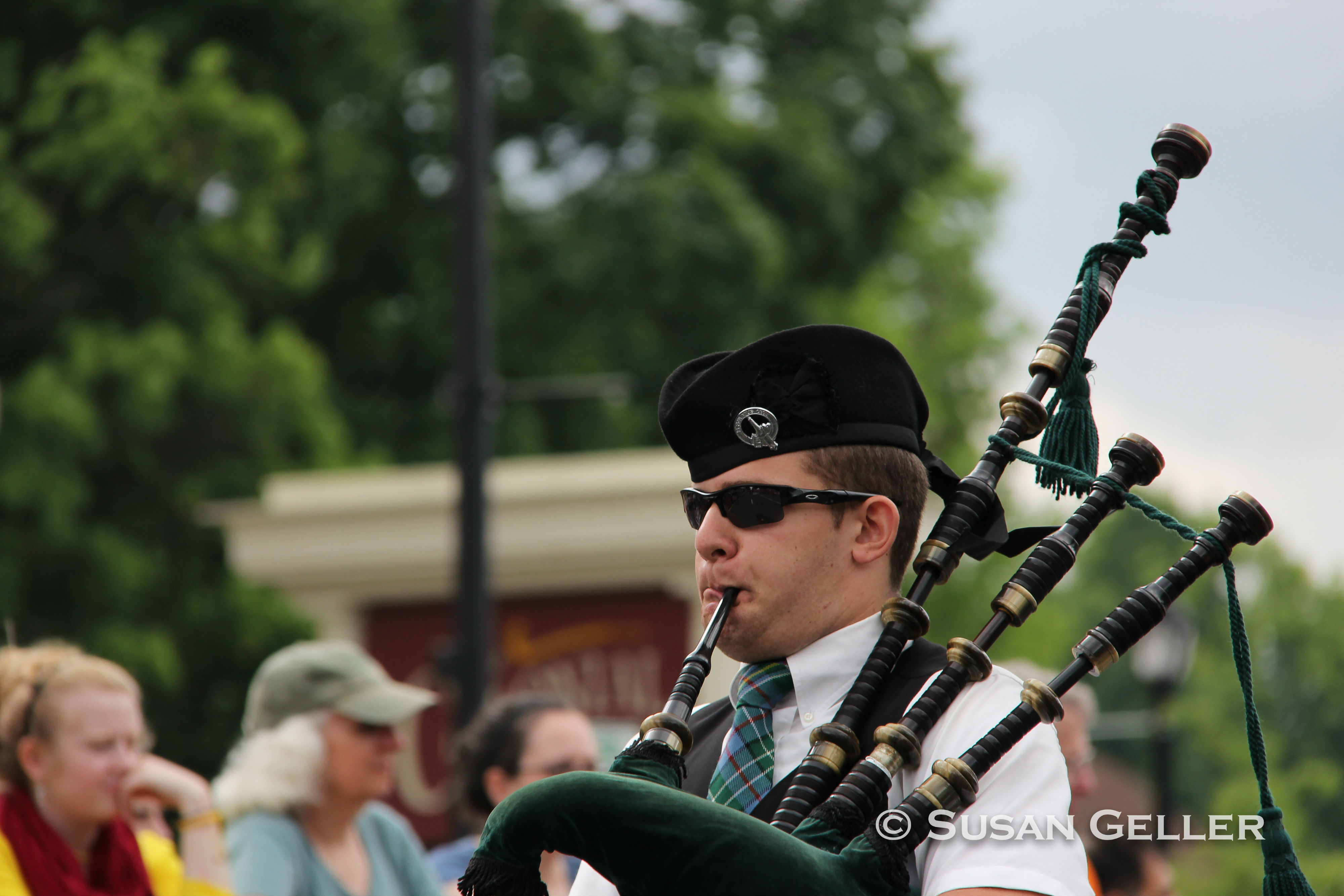 Bagpipers skirl in the July 4 parade. Courtesy photo by Susan Geller