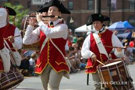 A fife and drum corps marches in the July 4 parade in Pittsfield. Courtesy photo by Susan Geller