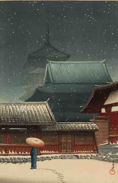 Kawase Hasui, Tennoji Temple. Image courtesy of Clark Art Institute