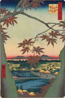 Utagawa Hiroshige, Tekoma Shrine, 1857, from 100 Views of Edo. Courtesy of the Clark Art Institute