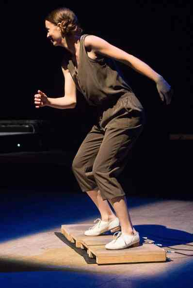 Tap artist Michelle Dorrance, above, has curated an evening with international tap artist at Jacob's Pillow Dance Festival in Becket. Photo by Christopher Duggan, courtesy of Jacob's Pillow