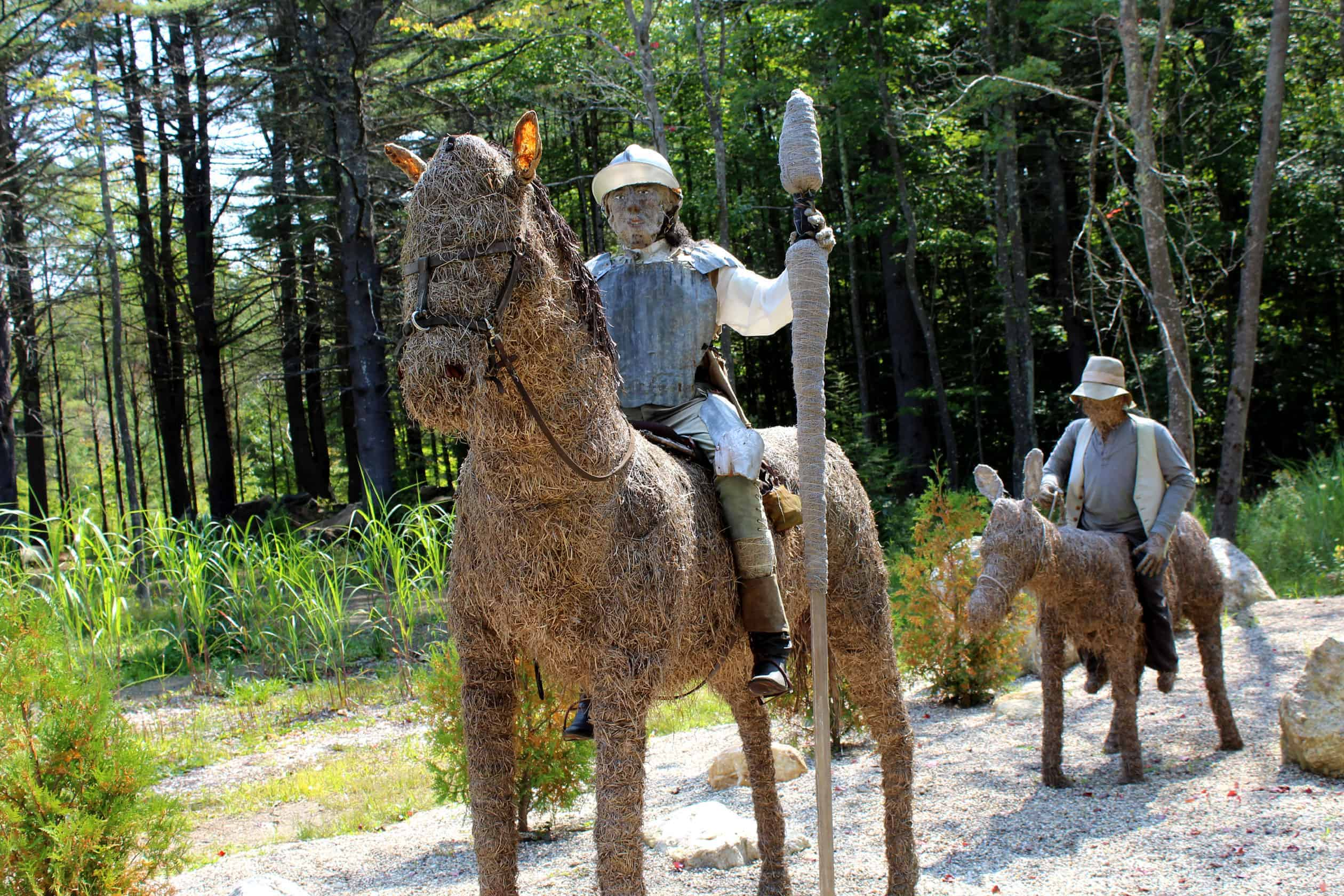 Don Quixote rides with Sancho Panza, the peasant laborer — greedy but kind, faithful but cowardly — Quixote takes as his squire. (Hint: Route 112 near the Ashfield town line.) Photo by Thom Smith