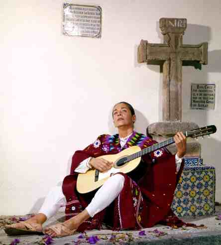 """Chavela Vargas, born Isabel Vargas Lizano in 1919, became one of Mexico's most loved performers. She sang """"rancheras,"""" songs of lost love, and she openly loved women, one them Frida Kahlo. Image from FilmColumbia"""