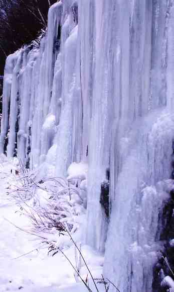 Ice forms just east of the hairpin turn in North Adams. Photo by Thom Smith