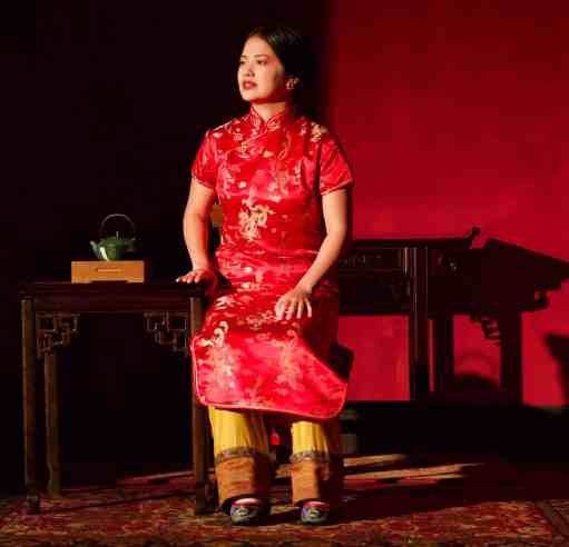 Shannon Tyo as Afong. Photos by Eloy Garcia, courtesy of Barrington Stage Company