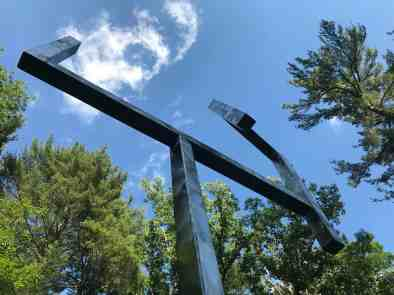 George Rickey kinetic sculpture at Chesterwood, summer 2018. Photo by Kate Abbott