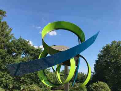 Pedro S. de Movellán kinetic sculpture at Chesterwood, summer 2018. Photo by Kate Abbott