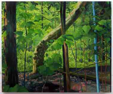 Amy Talluto's 'Bend,' oil on canvas, appears in Ecophilia at the Berkshire Botanical Garden. Courtesy of the artist and BBG.