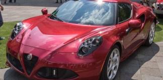 Rode Alfa Romeo auto sportwagen