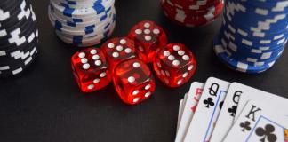 Casino Kansspelen Dobbelstenen Kaarten Fiches Chips