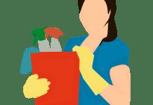 Reiniging Schoonmaak Werkster Schoonmaakster Vrouw Gezicht Hulp