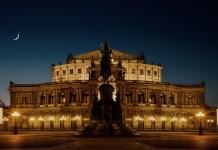 Saksische Staatsopera Dresden Semperoper Opera House Historisch 's-nachts