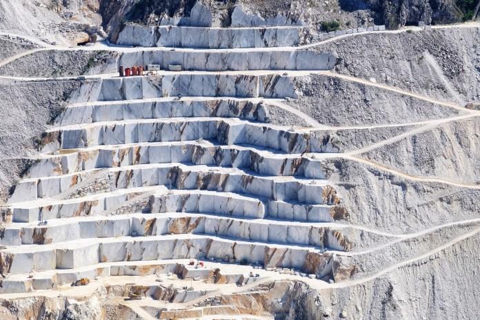 Toscane Steengroeve Marmer Apuane Carrara Alpen