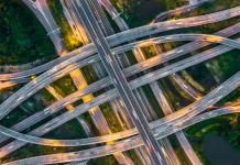 Wegennet Autowegen Knooppunt